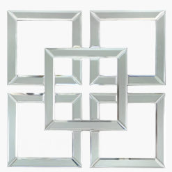 Small Squares Geo Mirrored Wall Art 40cm