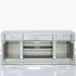 Athens Antique Silver Medium Mirrored TV Entertainment Stand