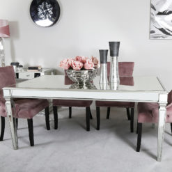 Athens Silver Mirrored Dining Table