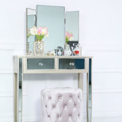Georgia Champagne Luxe Trifold Dressing Mirror Vanity Mirror