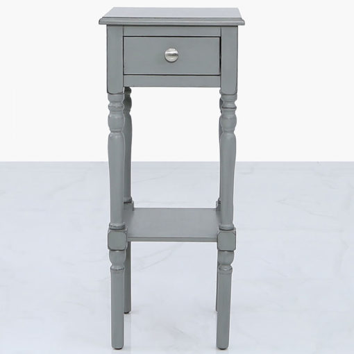 Arabella Grey Wood Small 1 Drawer Telephone Table Side Table