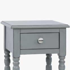 Arabella Grey Wood 1 Drawer Telephone Table Side Table End Table