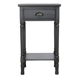 Arabella Grey Wood Large 1 Drawer Telephone Table Side Table