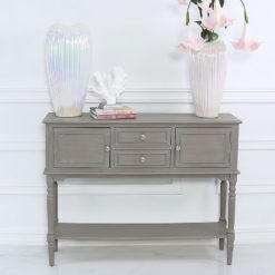 Arabella Taupe Wood 2 Door 2 Drawer Sideboard Cabinet