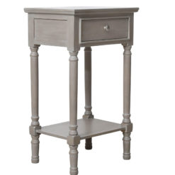 Arabella Taupe Wood Large 1 Drawer Telephone Table Side Table