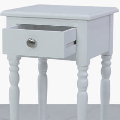 Arabella White Wood 1 Drawer Telephone Table Side Table End Table