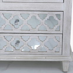Hampton Mirrored 7 Drawer Cabinet Sideboard Chest Of Drawers