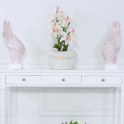 Pair of Pink Angel Wings Decoration Sculpture