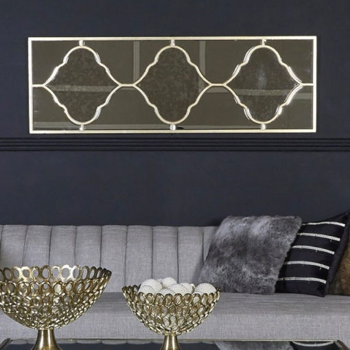 Sahara Marrakech Moroccan Mirrored Gold Vertical Wall Mirror 150cm