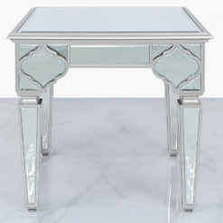 Sahara Marrakech Moroccan Silver Mirrored Square End Side Table