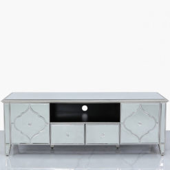 Sahara Marrakech Moroccan Silver Mirrored TV Entertainment Cabinet