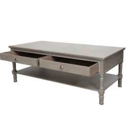 Arabella Taupe Wood 4 Drawer Coffee Table Lounge Table