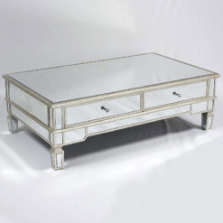 Canterbury Silver 2 Drawer Mirrored Venetian Coffee Table Lounge Table