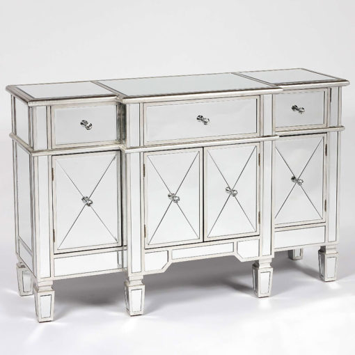 Canterbury Silver Mirrored Venetian Sideboard Cabinet