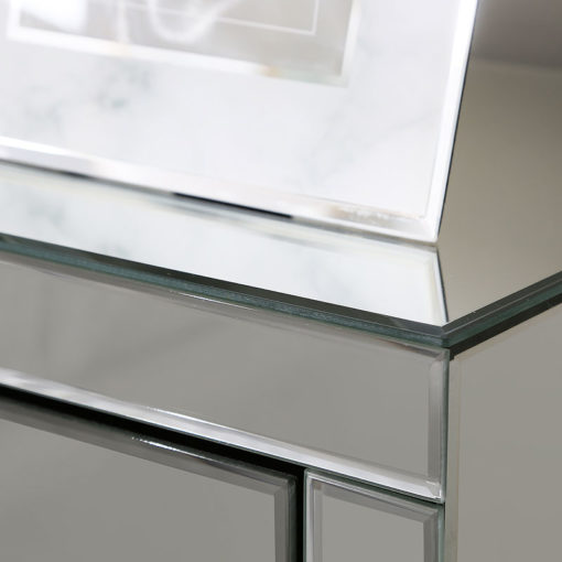 Beverly 3 Drawer Silver Mirrored Bedside Cabinet Table