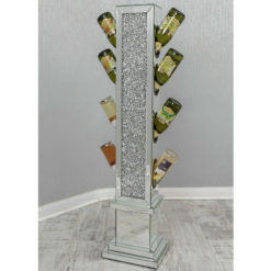 Crushed Diamond Sparkly Mirrored Wine Rack Bottle Holder