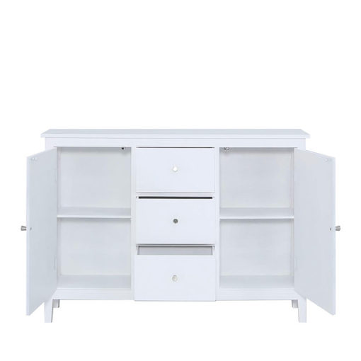 Tristan White Country Cottage Style 2 Door 3 Drawer Sideboard Cabinet