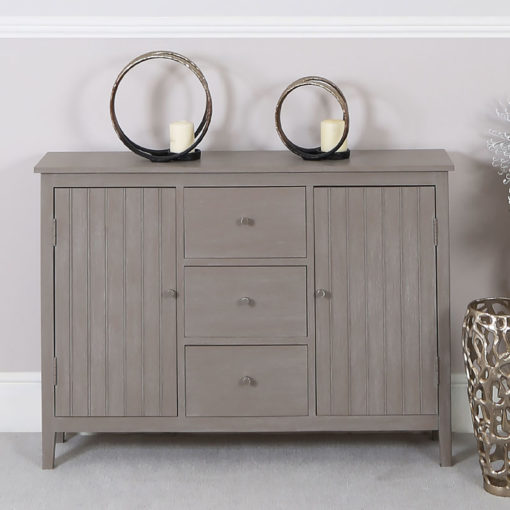 Tristan Taupe Country Cottage Style 2 Door 3 Drawer Sideboard Cabinet