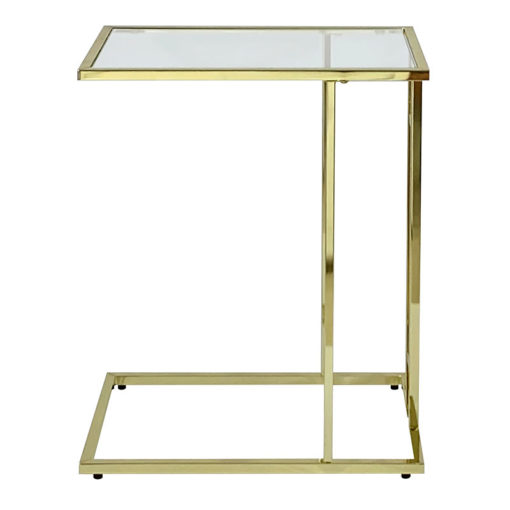 Bailey Gold Metal Sofa Table Laptop Table Side End Table