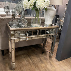 Belfry Antique Gold 2 Drawer Mirrored Console Table Hallway Table