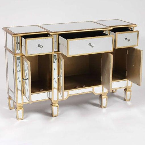 Canterbury Gold Mirrored Venetian Sideboard Cabinet
