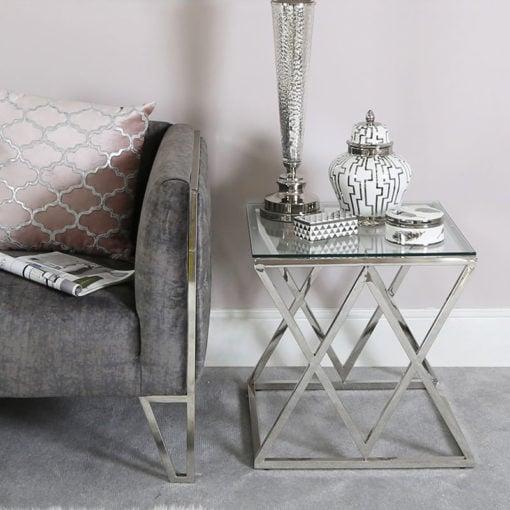 Small White And Silver Trinket Box Jewellery Box