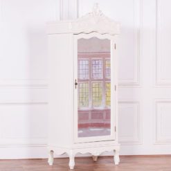Louis French Style Country House Rococo Single Mirrored Door Wardrobe