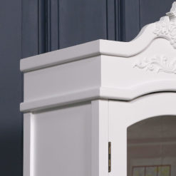 Louis French Style Country House Rococo White 1 Door 2 Drawer Wardrobe