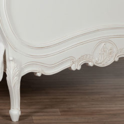 Louis French Style Country House Rococo White Mahogany Double Bed