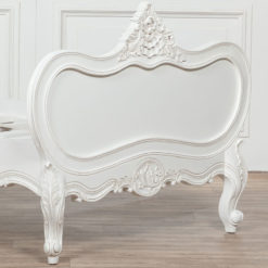 Louis French Style Country House Rococo White Mahogany Single Bed 3ft