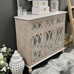 Newport Mirrored 3 Drawer 3 Door Cabinet Sideboard