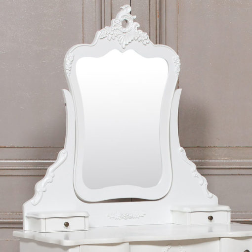 Louis French Style Country House Rococo Dressing Table And Stool Set