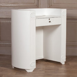 Louis French Style Country House Rococo Hardwood White Desk