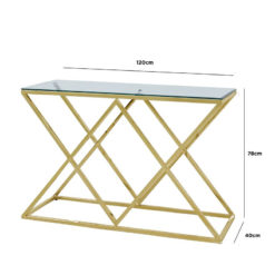 Antoinette Gold And Glass Console Table Hallway Table