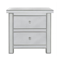 Classic Mirror 2 Drawer Bedside Cabinet