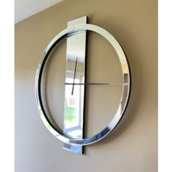 Classic Mirrored Large 80cm Wall Clock